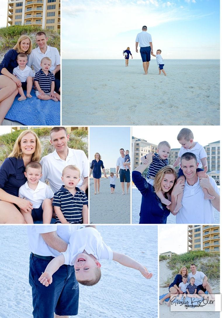 Parents and Kids at Clearwater Beach